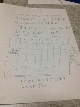 家計簿的ノート2
