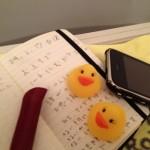 お風呂でノートにむかうこと