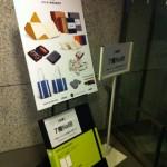 モレスキン2012年 新作展示会に来ています。