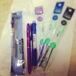 筆記具を買いました