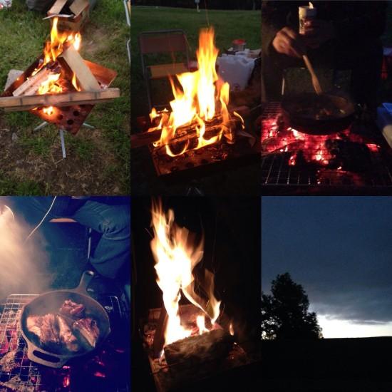 6月はまだまだ寒い北海道。一晩中、たき火の達人が激しい炎をキープしてくれたおかげで、とても暖かく過ごすことができました。