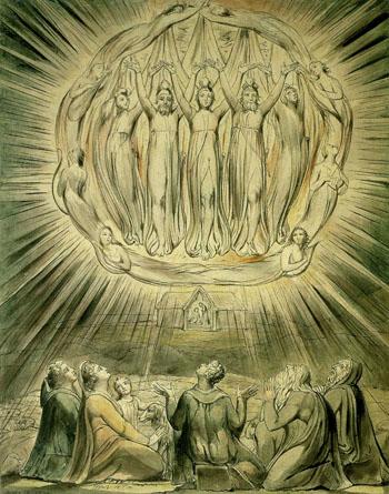 ウィリアム ブレイク『羊飼いに現れる天使』