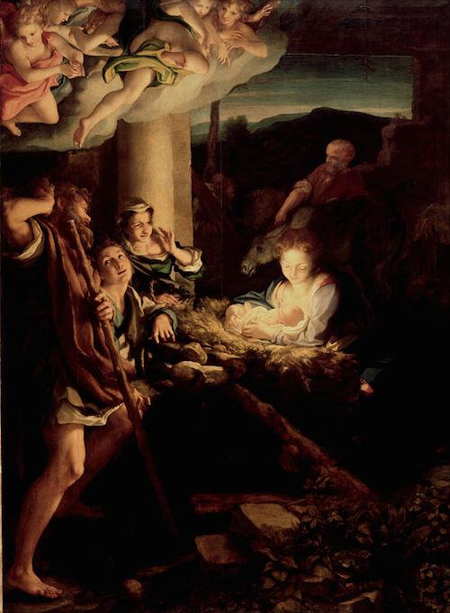 『キリストの降誕』コレッジョ 1522年 祭壇画
