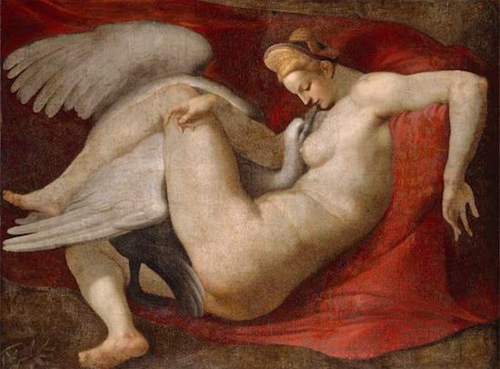 ミケランジェロ先生(が描いたとされる)(現存していないそうです)のレダと白鳥(※6.5)