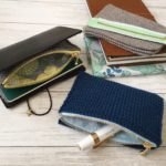 毛糸のジッパーケース(トラベラーズノート用)を製作中であることと改良点と。