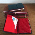 赤ずきん三姉妹の、毛糸のジッパーケース(トラベラーズノート用)