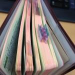ピコットフセンを三年手帳といっしょに使う