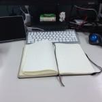 ノートを書く場所@仕事机
