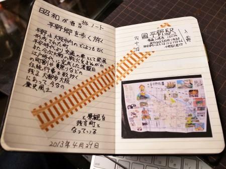 今回作成した旅ノート