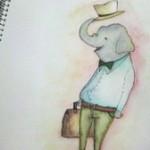 旅する象と絵本のはなし