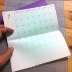 2013年下半期のマンスリー手帳をつくりました